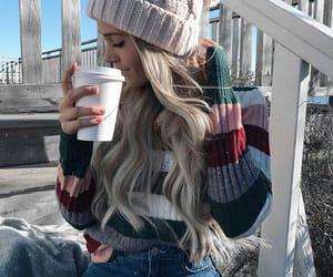 caffe, fashion, and blondgirl image