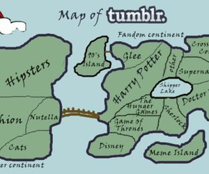 tumblr, map, and harry potter image