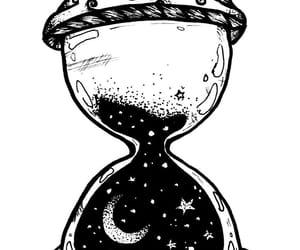 art, black&white, and clock image