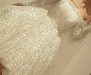 white homecoming dresses, long sleeves prom dresses, and prom dresses 2018 image