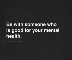 black and white, mental health, and quote image