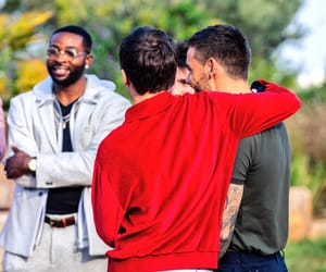 Louis and Liam at the Judge's house in Xfactor
