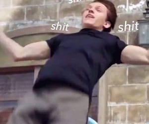 reaction, tom holland, and meme image