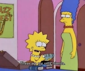 book, friends, and the simpsons image