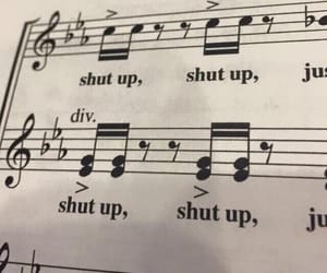 music, aesthetic, and shut up image