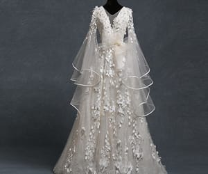 bridal gown, fashion, and lace image