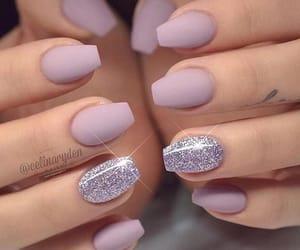 glitter, matte, and nails image