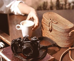 accessories, cafe, and camera image