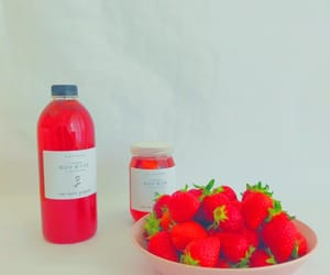 aesthetic, strawberry, and theme image