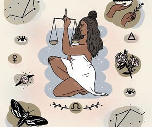 art, astrology, and Libra image