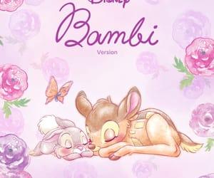 flowers, bambi, and disney image