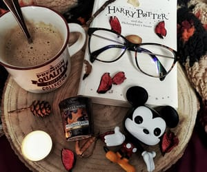 autumn, coffee, and harry potter image