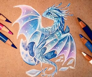 dragon, drawing, and cute image