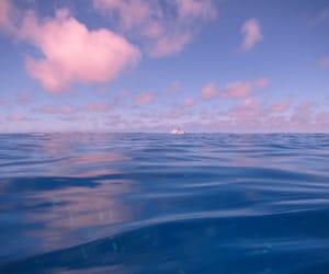 ocean, sky, and sea image