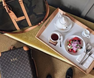 breakfast, style, and coffee image