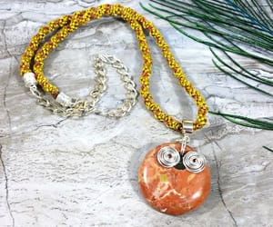 etsy, handmade jewelry, and yellow necklace image