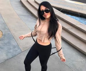 black hair, pretty, and sport image