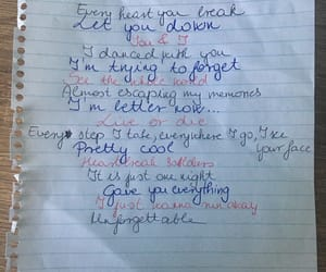 handwriting, unforgettable, and lyric image