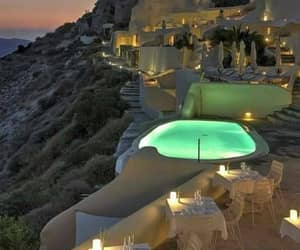 santorini, travel, and Greece image