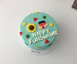 bright, cake, and flowers image