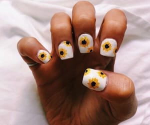 aesthetics, flowers, and nails image