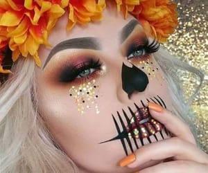 Halloween, makeup, and autumn image