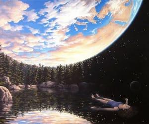art, sky, and earth image