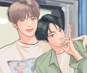 fanart, gay, and kpop image