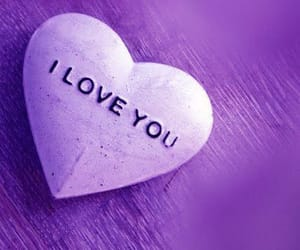 heart, I Love You, and purple image