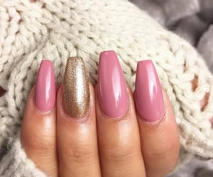 gold, nails, and hand image