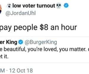 burger king, greed, and cheap image