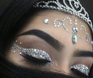 makeup, beauty, and crown image