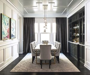 cosy, posh, and dining room image
