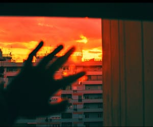 sunset, hand, and aesthetic image