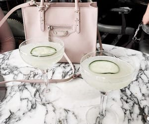 drink, marble, and bag image
