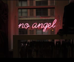 angel, neon, and pink image