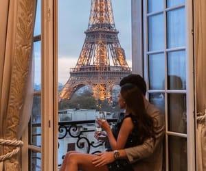 couple, paris, and love image