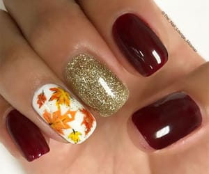 Autumn Nail Art Nails Ideas And Leaf Image