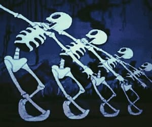 Halloween, october, and skeleton image