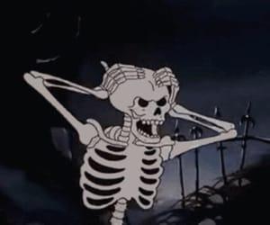 skeleton, Halloween, and cartoon image