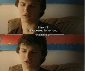 ansel elgort, quotes, and movie image