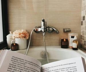 bath, book, and candle image