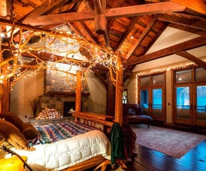 cozy, bed, and wood image