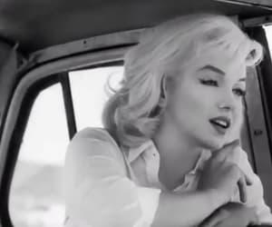 black and white, marylin, and movie image