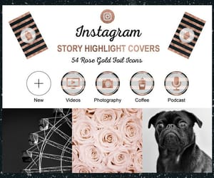etsy, instagram covers, and instagram icons image