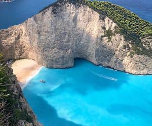 beach, Greece, and hiking image