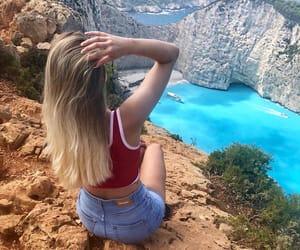 beach, hiking, and sea image