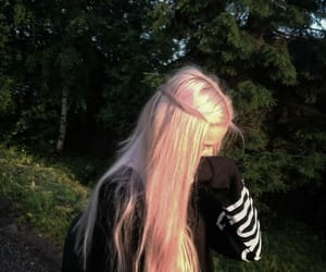 hair, nature, and girls image