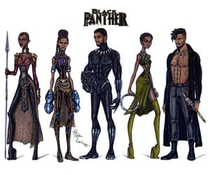 black panther, hayden williams, and okoye image