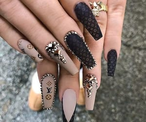 nails, beauty, and art image
